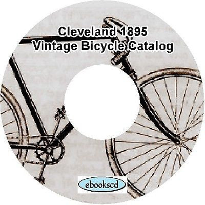 CLEVELAND 1895 vintage bicycle catalog on CD
