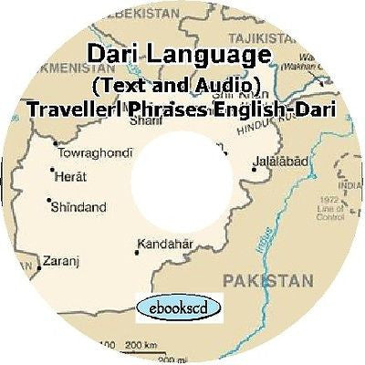 DARI language Travellers Phrases course: Audio  + Text on DVD