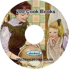 Cooking cookery recipes 200 vintage cook books on DVD collection 1000's recipes