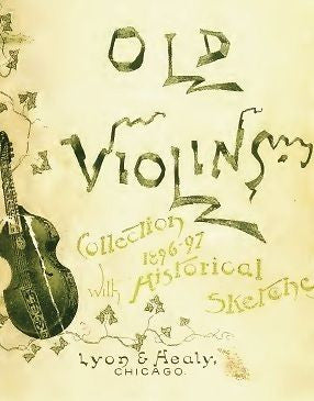 Lyon & Healy 1896 - 1897 old rare violins catalog on CD
