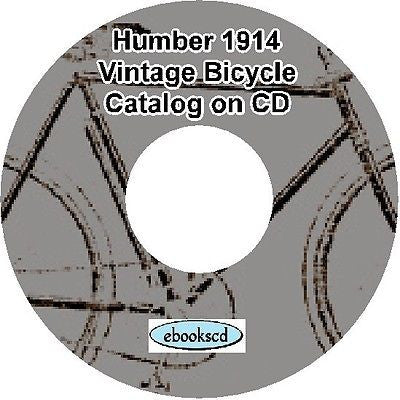 HUMBER 1914 vintage bicycle & motorcycle motor cycle catalog on CD