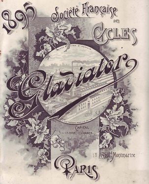GLADIATOR 1895 vintage French bicycle catalog on CD