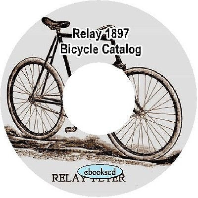 Relay 1897 vintage bicycle catalog on CD