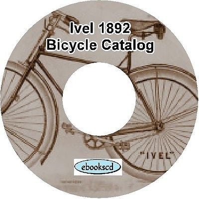 IVEL 1892 vintage bicycle and tricycle catalog on CD