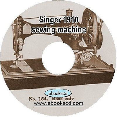 SINGER 1910 sewing machine & accessories catalog book guide on CD