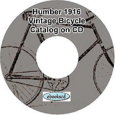 HUMBER 1916 vintage bicycle & motorcycle motor cycle catalog on CD