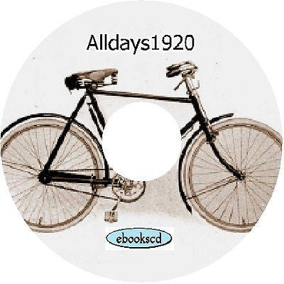 ALLDAYS 1920 vintage bicycle catalog catalogue on CD