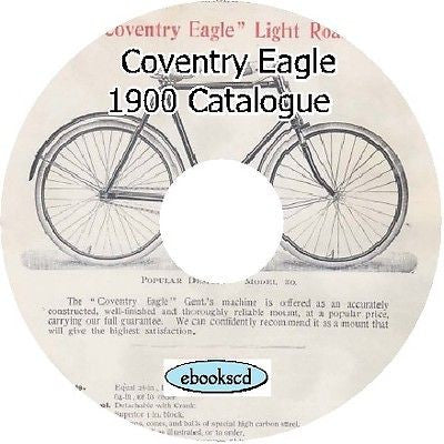COVENTRY EAGLE CYCLES 1900 catalog on CD