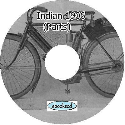 Indian motorcycle 1906 parts manual guide on CD