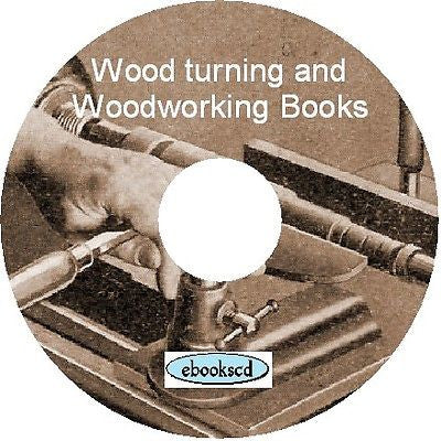 Wood work woodwork woodworking & wood turning 16 Books on CD