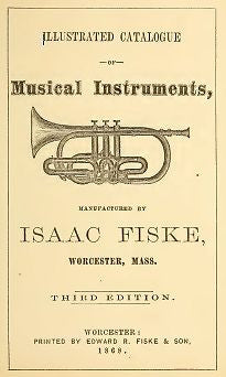 Isaac Fiske 1868 catalogue of musical instruments on CD