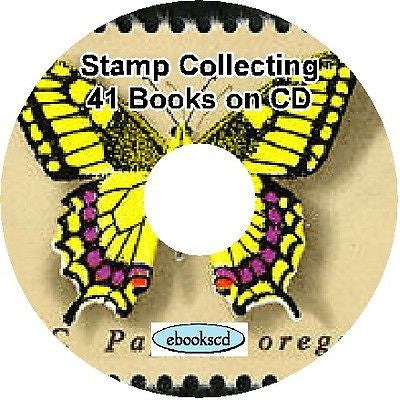 Stamp collecting philately philatelic 41 Books on CD