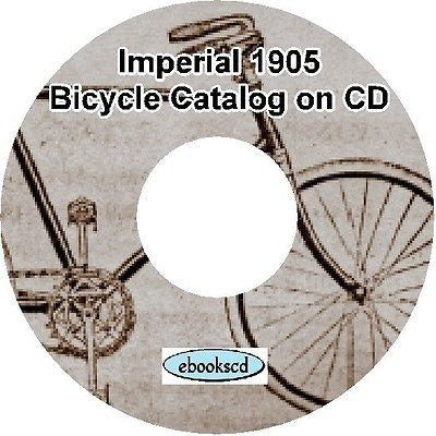 IMPERIAL 1905 vintage bicycle, tricycle & motorcycle motor cycle catalog on CD