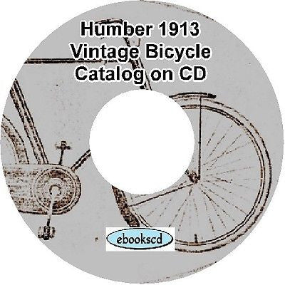 HUMBER 1913 vintage bicycle & motorcycle motor cycle catalog on CD