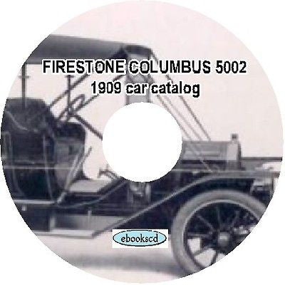 FIRESTONE COLUMBUS 5002 vintage 1909 car catalog on CD