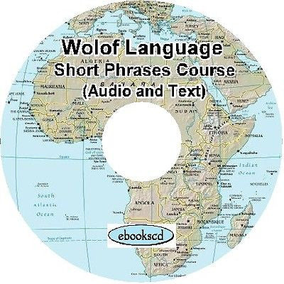 WOLOF language Short Phrases Course Audio & Text on DVD