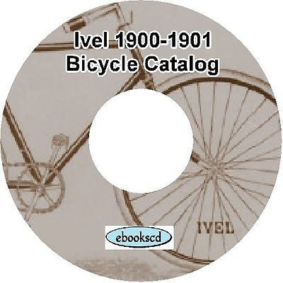IVEL 1900-1901 vintage bicycle, tricycle & motor car automobile catalog on CD