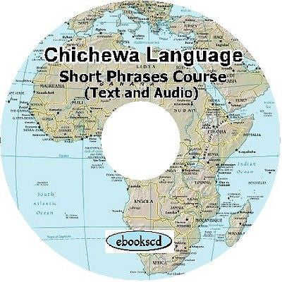 Chichewa Language Short Phrases Course text & audio on DVD chi1