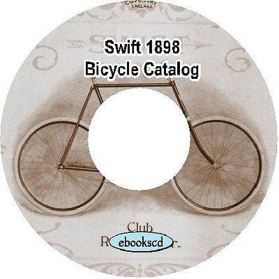 Swift 1898 vintage bicycle catalog on CD