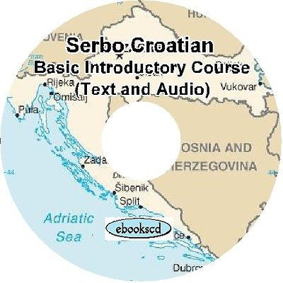Serbo Croatian language Introductory Course Audio & Text on DVD