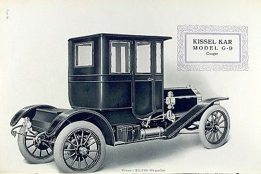 KISSEL CAR CO. 1909 vintage car automobile catalog CD