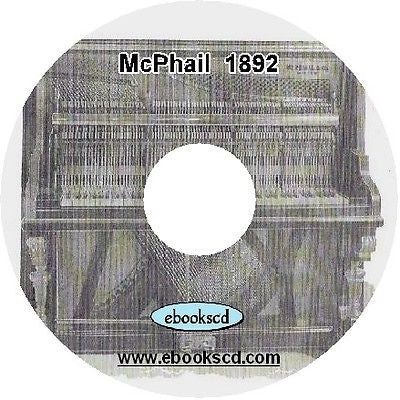 McPhail 1800's piano catalog (circa 1892) on CD ~ 27 pages