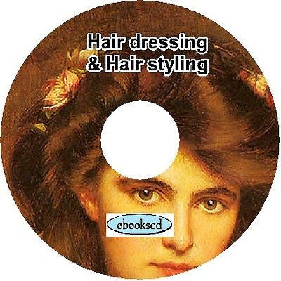 Hair dressing and hair styling 10 Books on CD
