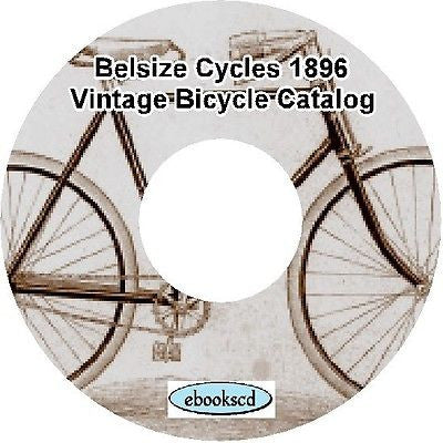 MANCHESTER CYCLE CO. BELSIZE CYCLES 1896 vintage bicycle catalog on CD
