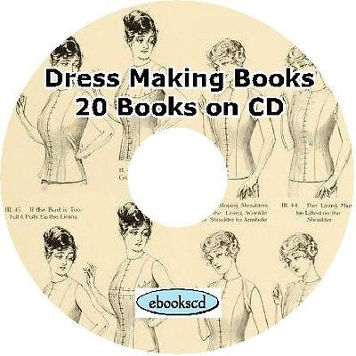 Dress Making Dressmaking Sewing 20 Books on CD