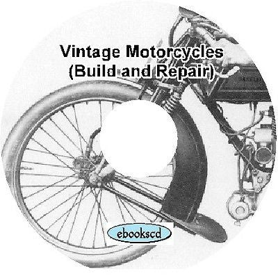 Vintage BUILD & REPAIR MOTORCYCLE motor cycle books CD