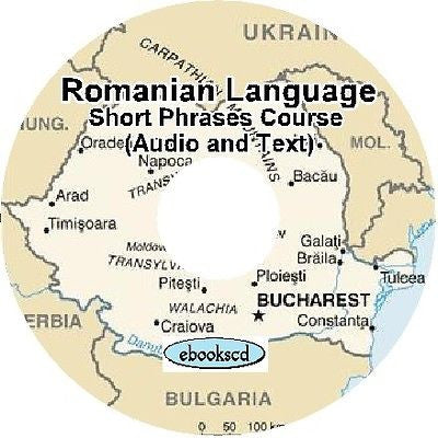 ROMANIAN Short Phrases course Text & Audio on DVD