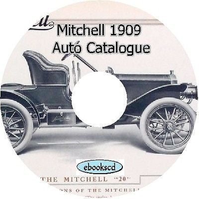 MITCHELL MOTOR CAR CO 1909 vintage car catalog on CD