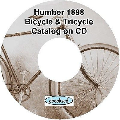 HUMBER 1898 vintage bicycle & tricycle catalog on CD