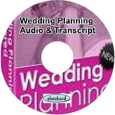 Wedding Planning Home Business Audio & Book on CD