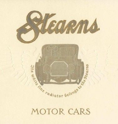 Stearns Motor Cars 1909 vintage automobile catalog CD