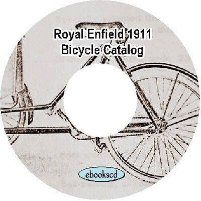 Royal Enfield 1911 vintage bicycle catalog on CD