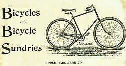 BIDDLE 1894 vintage bicycle & accessories catalog on CD
