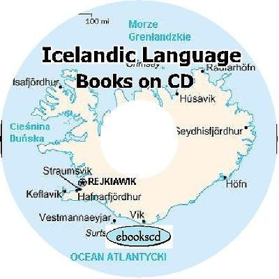 Learn ICELANDIC language of Iceland 5 classic books CD