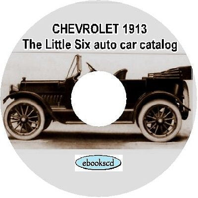 CHEVROLET 1913 The Little Six auto car catalog on CD