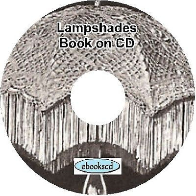 How to make lampshades Make lamp shades Book on CD + 8 books on light fittings