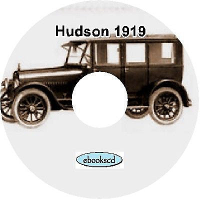 HUDSON 1919 Super Six Motor Car automobile catalog CD