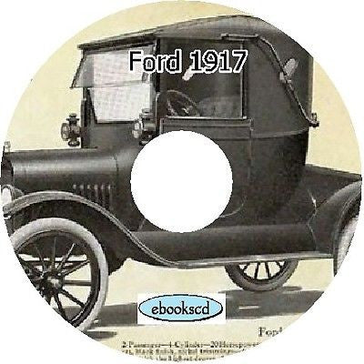 FORD 1917 Ford automobile car catalog on CD