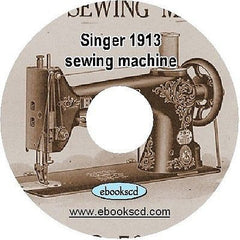 1913 SINGER sewing machine no. 78-1 instruction guide manual book on CD