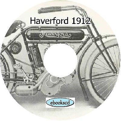 Haverford motorcycle motor cycle 1912 catalog on CD