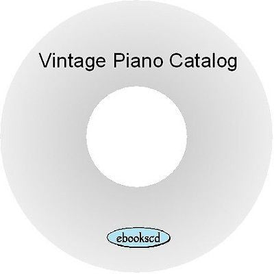 Walworth (Schulz) piano catalog (circa 1901) on CD ~ 31 pages