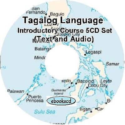TAGALOG language An Introductory Course 5 CD set