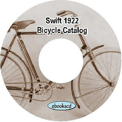 Swift 1922 vintage bicycle catalog on CD