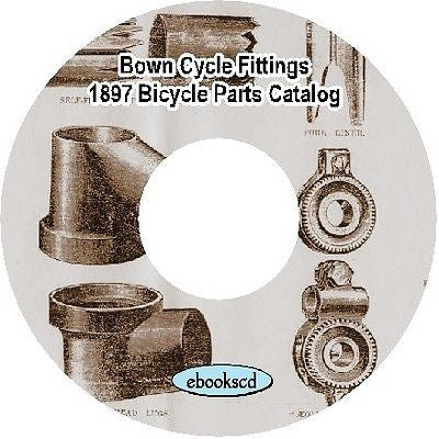 Aolus Bown Cycle Co 1897 vintage bicycle parts supplies fittings catalog on CD