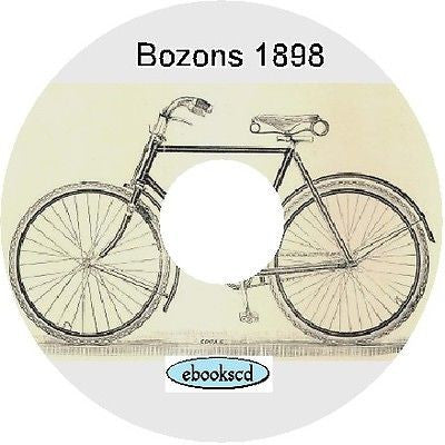BOZONS Ltd 1898 vintage bicycle catalog