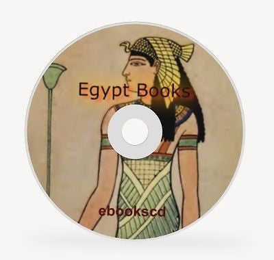 Egypt Art Costume Decorations and Egypt History 30 Books on CD